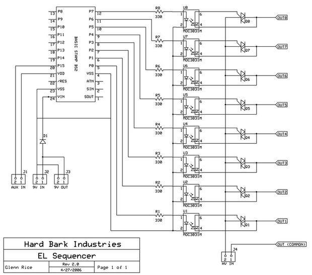 el wire sequencer schematic