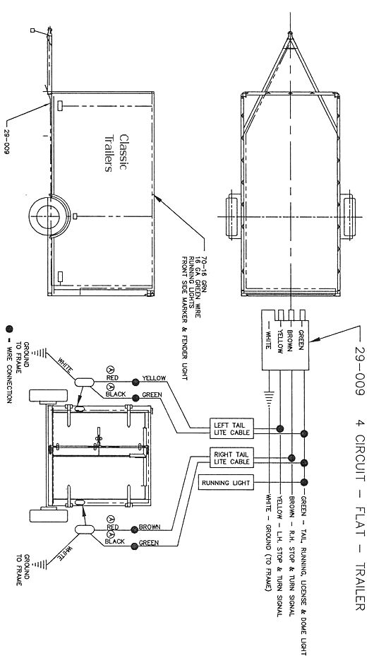 typical utility trailer wiring diagram