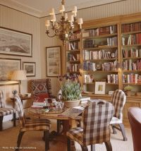 Cool library dining room combo