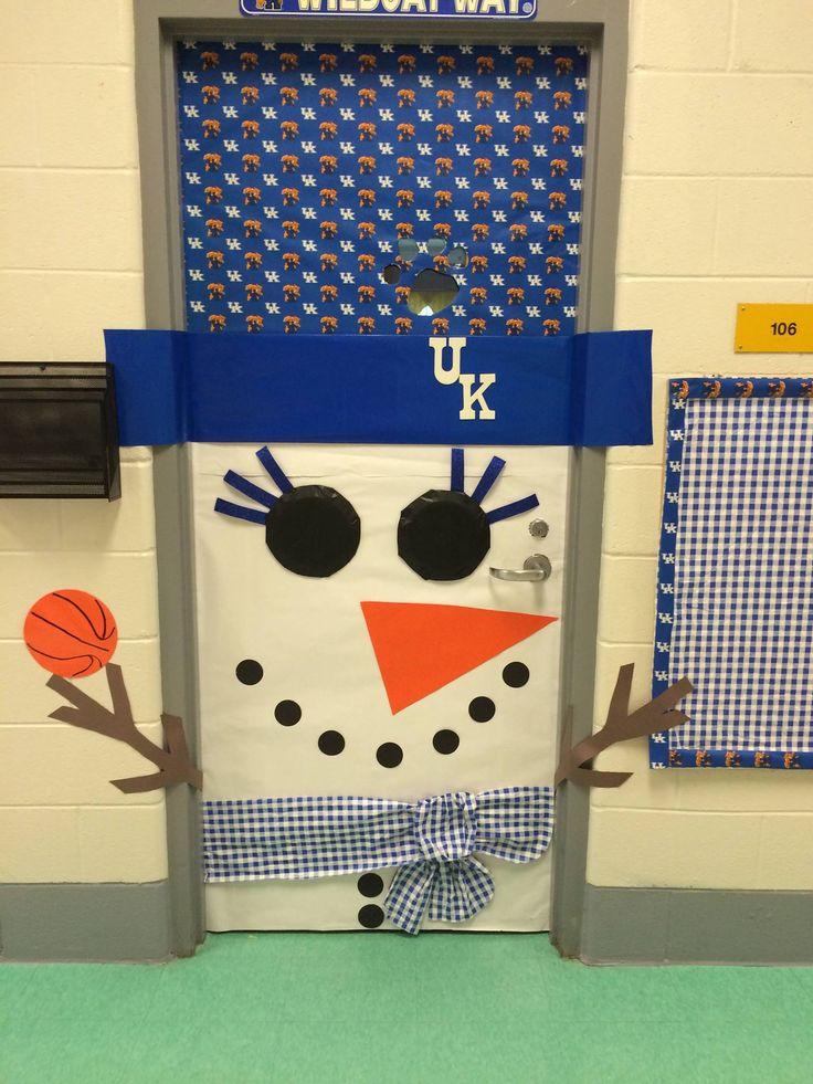 University of Kentucky Snowman Classroom Door Decoration