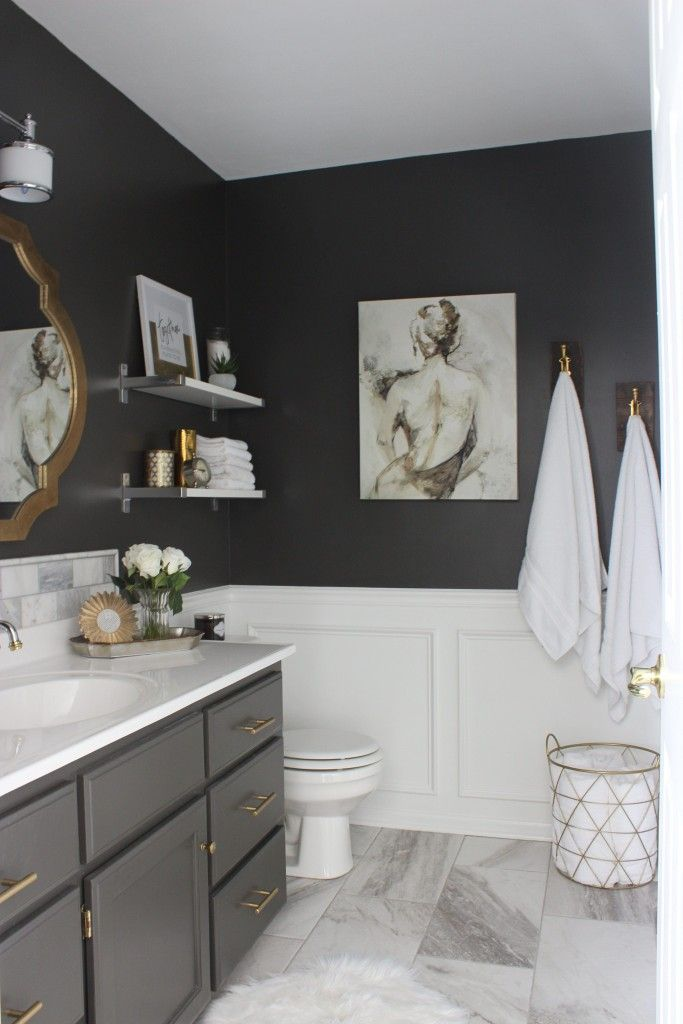 1000+ Ideas About Dark Gray Bathroom On Pinterest   Gray And White