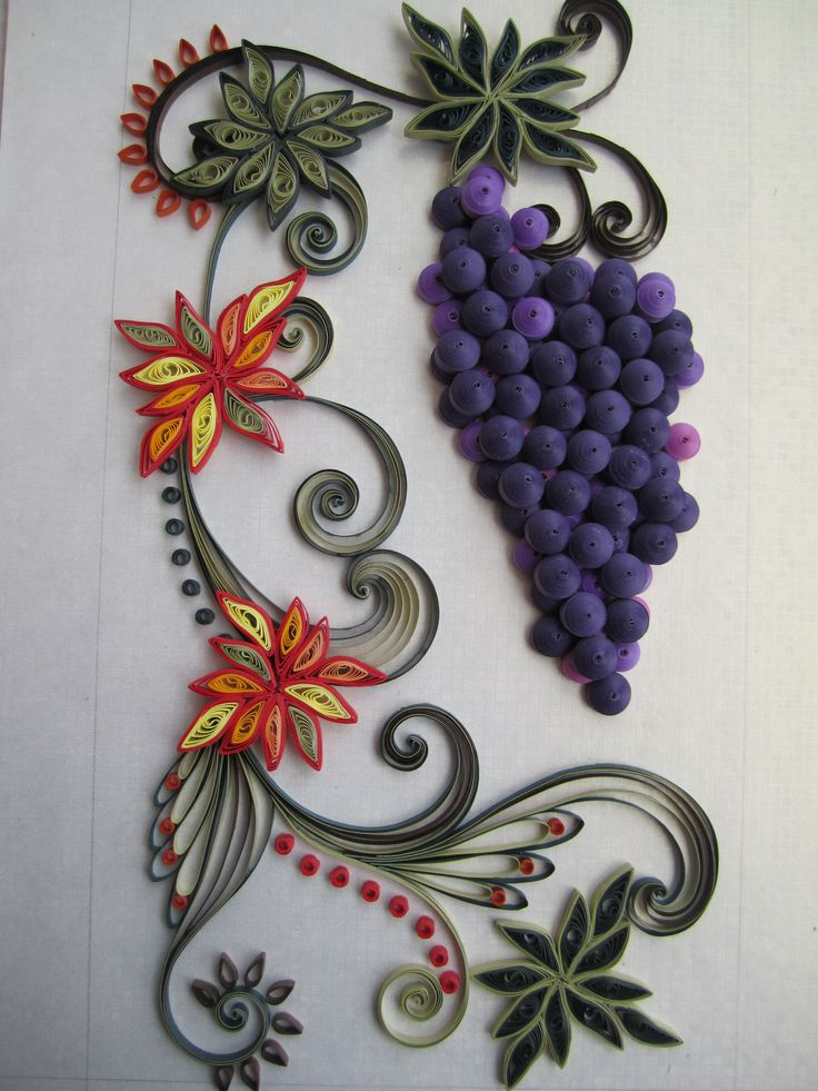 25+ best images about Quilling grapes on Pinterest