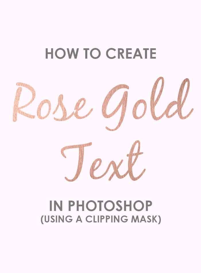 Iphone Quote Wallpaper Generator How To Create Rose Gold Text In Photoshop Using A
