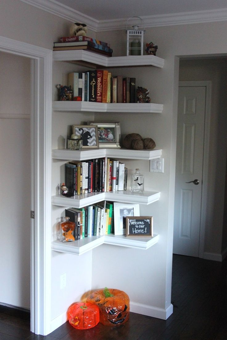 Decorative And Functional Corner Shelves Decor Ideas