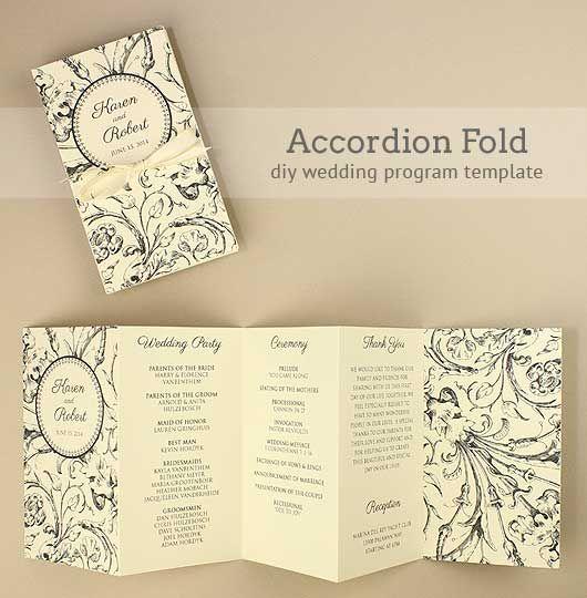 wedding service programme