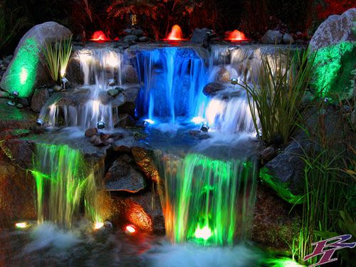Niagara Falls Hd 1080p Wallpapers I Would Love An Outdoor Water Feature With Rainbow Lights
