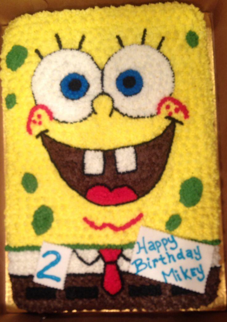 Spongebob Cake With Vanilla Buttercream Http Cw Cakes