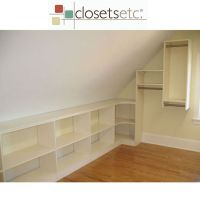 We've used every bit of space in this closet with sloped ...