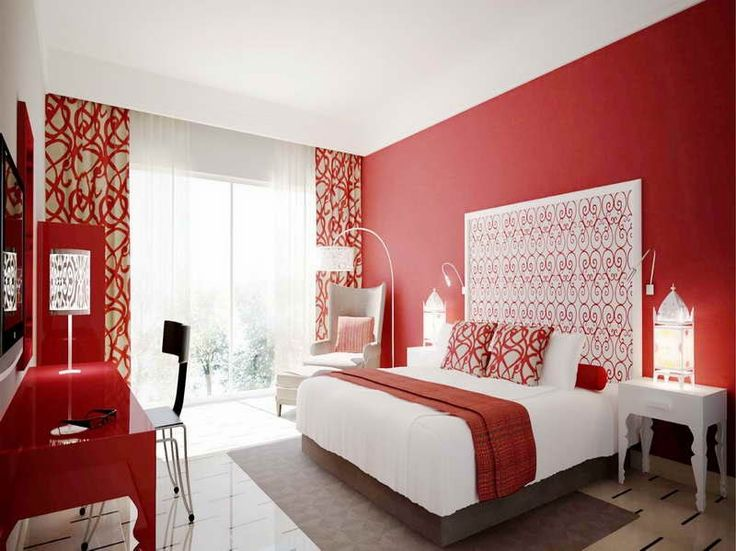 Rote Wandfarbe Schlafzimmer Decorating With Red Walls - Google Search | Mission Condo