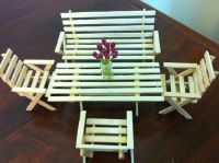 Mini table by ice cream sticks | DIY & Crafts | Pinterest ...