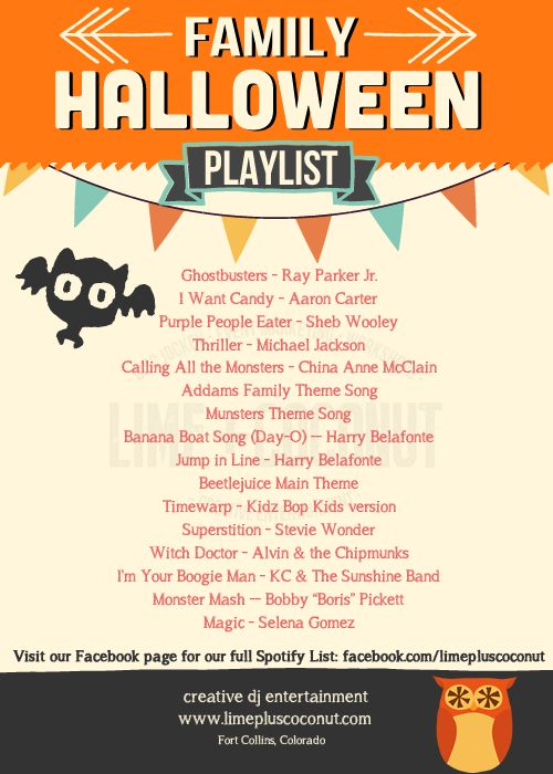 Deep Plate Halloween Playlist For Kids Parties By Lime+coconut