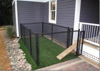 A small (very small) backyard dog run right off the porch ...