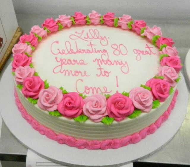 Baby Girl Wallpaper Borders Pink And Purple Another 80th Birthday Cake From Fb Page Posting