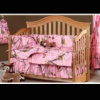 Pink camo crib set   Things for my grandkids (one day ...