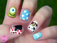 Disney Movies Themed Nail Art | Character Nail Art ...