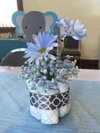 Elephant baby shower centerpiece | Plan to many soirees ...