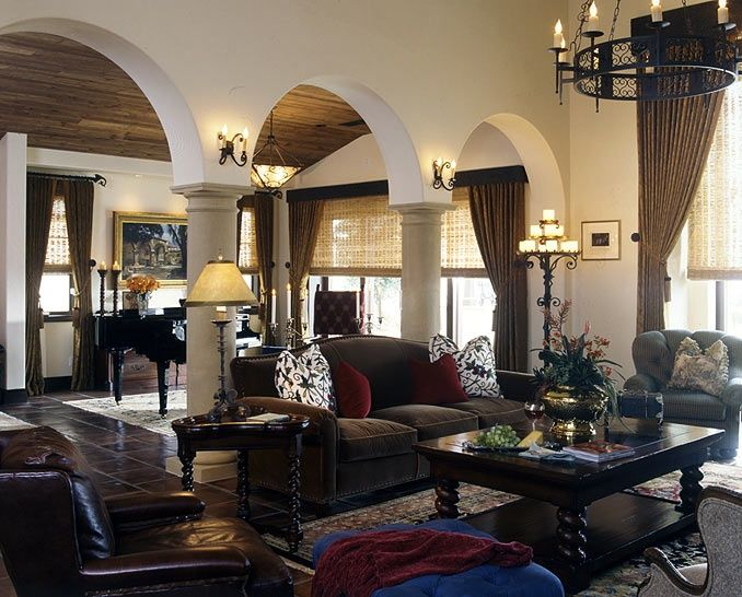 Spanish Colonial Living Room Spanish Classic Arches - Kolonialstil Pinterest