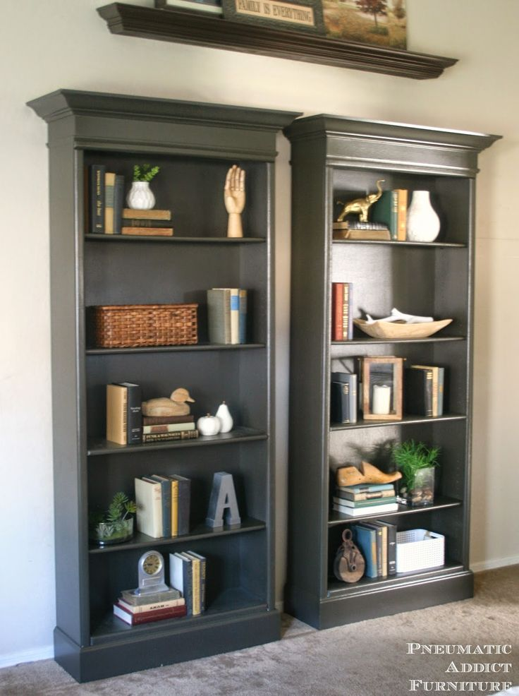 Book Shelfs How To Upgrade Bookshelves | Home Inspiration | Pinterest