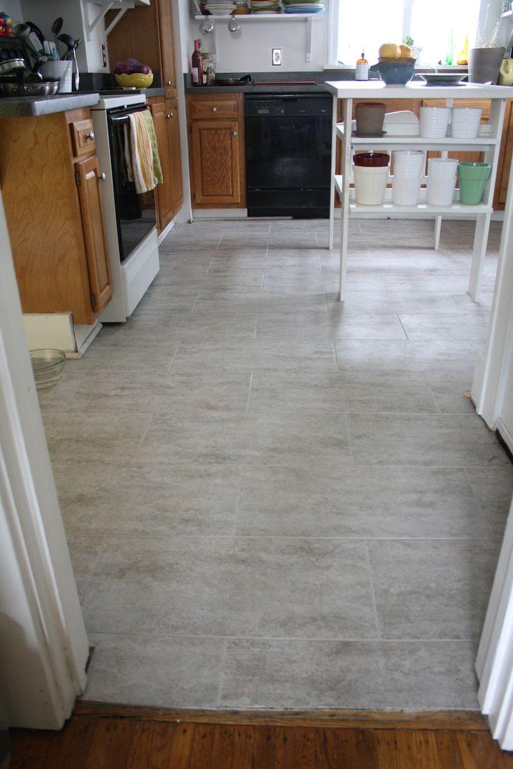 kitchen gray kitchen floor Gray kitchen floor tile offset