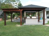 tin roof outdoor shelter | Wood Patio Cover / Pergola ...