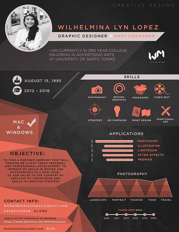 creative cv design for graphic designers