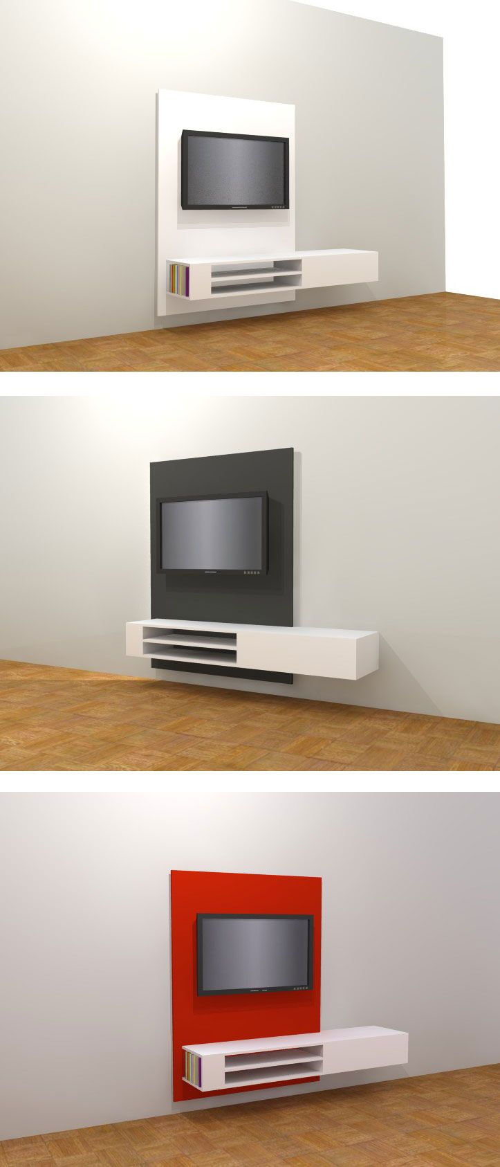 Floating Tv Stand Floating Tv-stand / Cabinet 'jordi'. Modern Diy, Design By