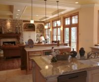 Large, open concept country/rustic kitchen by Ware Design ...