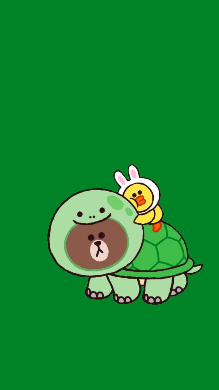 Cute Wallpaper Rilakkuma Brown Turtle Blue Line Character Pinterest Turtles