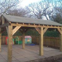 Details about Wooden Garden Shelter, Structure, Gazebo ...