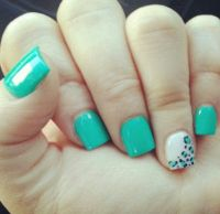 cute blue cheetah print nail art | Cute nails ideas!!
