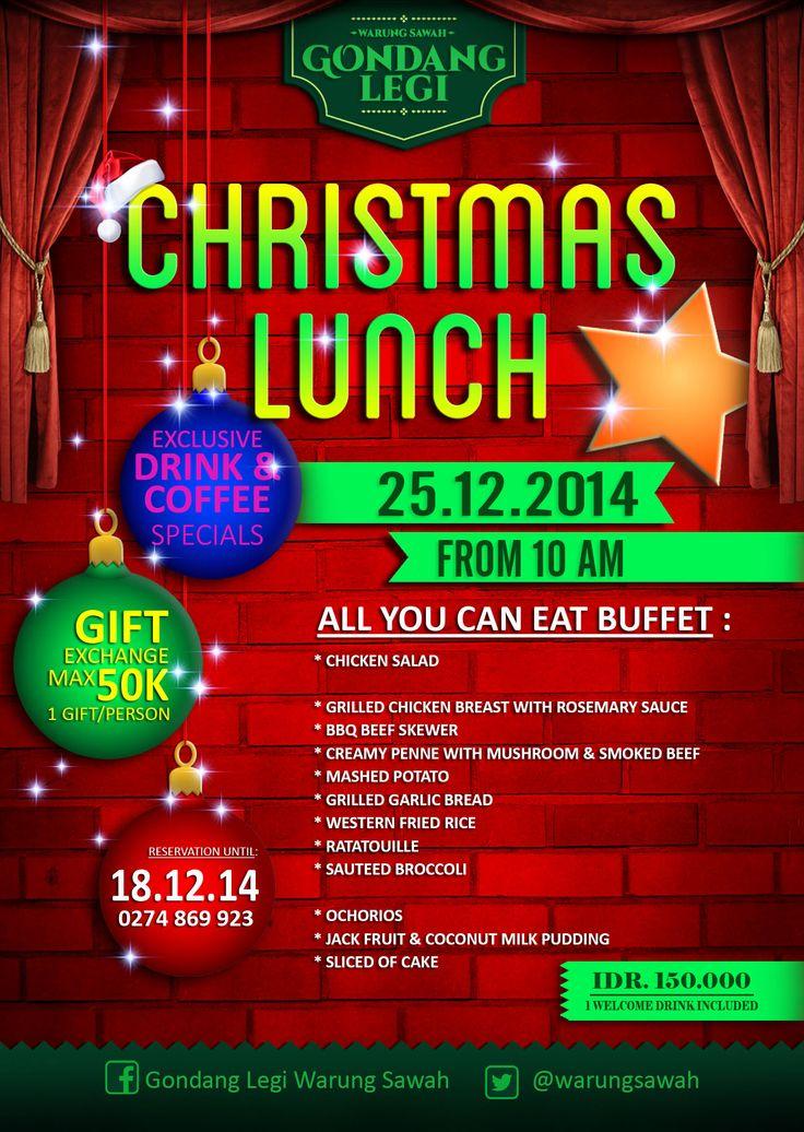 christmas luncheon flyers