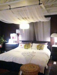 IKEA Bedroom Design: Drape sheer fabric panels from ...