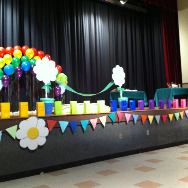 Decorated Stage For Bridging Ceremony Gs Pinterest