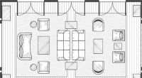 Yellow living room floor plan | How to draw furniture ...