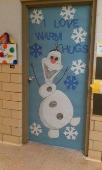 Winter Door Decoration...I love Olaf! | Kindergarten ...