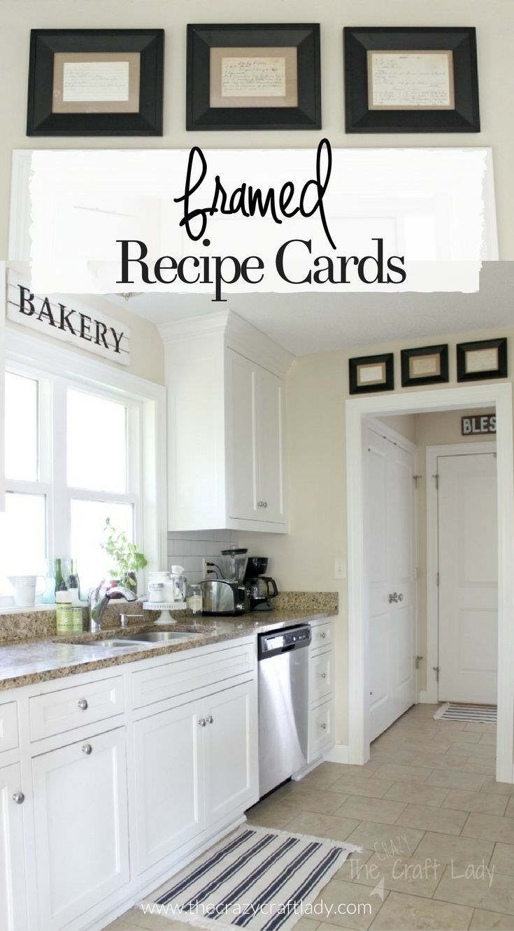 Framed recipe cards patio wall decorsmall wall decorkitchen