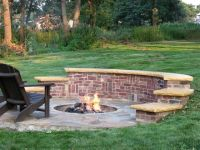 Love the seating wall, | Outdoors | Pinterest | Ash, Yards ...