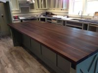 Custom-made walnut butcher block island top by # ...
