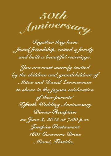 Invitation Cards Ruby Wedding Anniversary Anniversary Invitations 50th | Use An Rsvp Card For Date