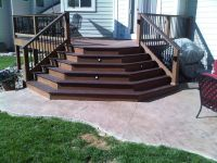 Stamped Concrete Patio With Stairs | www.imgkid.com - The ...