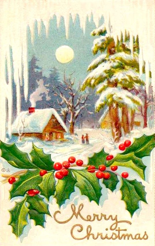 Pinterest Christmas Vintage Old Christmas Post Сards — (536x850) | Old Christmas Post