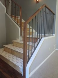 Wood Stair Railings Interior. Finest Furniture Modern ...
