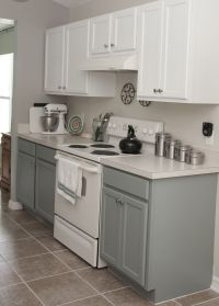 two tone kitchen cabinets rustoleum cabinet transformation ...