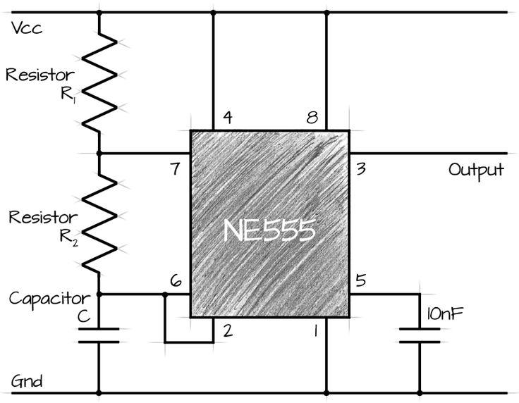 555 ne555 astable circuit calculator electronique pinterest