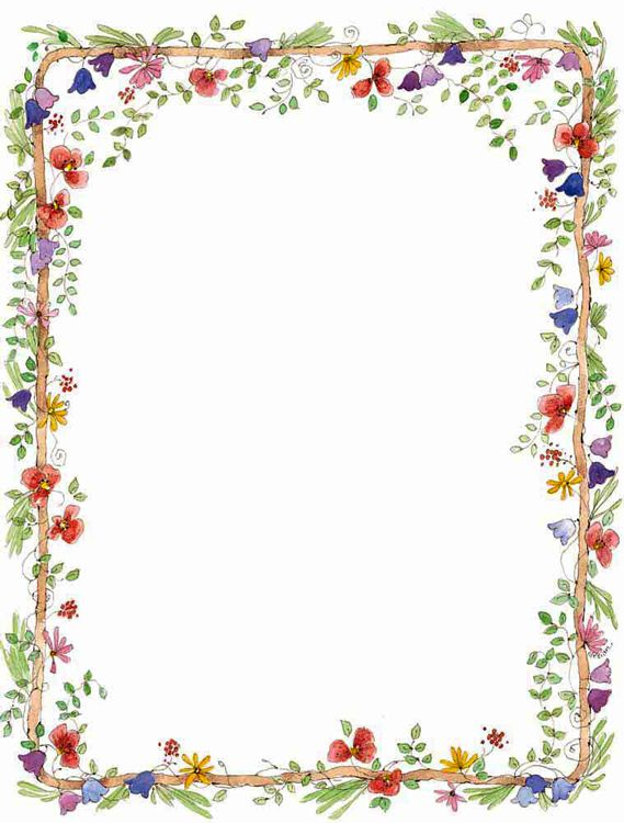 Polaroid Rahmen Für Foto Flower_border.png (569×750) | Backgrounds, Borders And