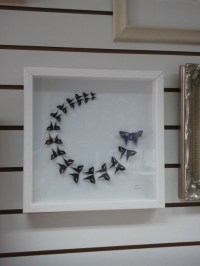 3D butterfly wall art framed Origami art by Meiorigami on ...