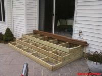 Wooden Patio Steps | Porch Stairs | Outdoor Ideas ...
