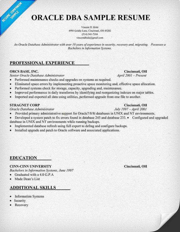 100 database administrator resume entry level how to