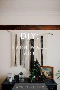 Best 25+ Yarn wall hanging ideas on Pinterest | Diy wall ...
