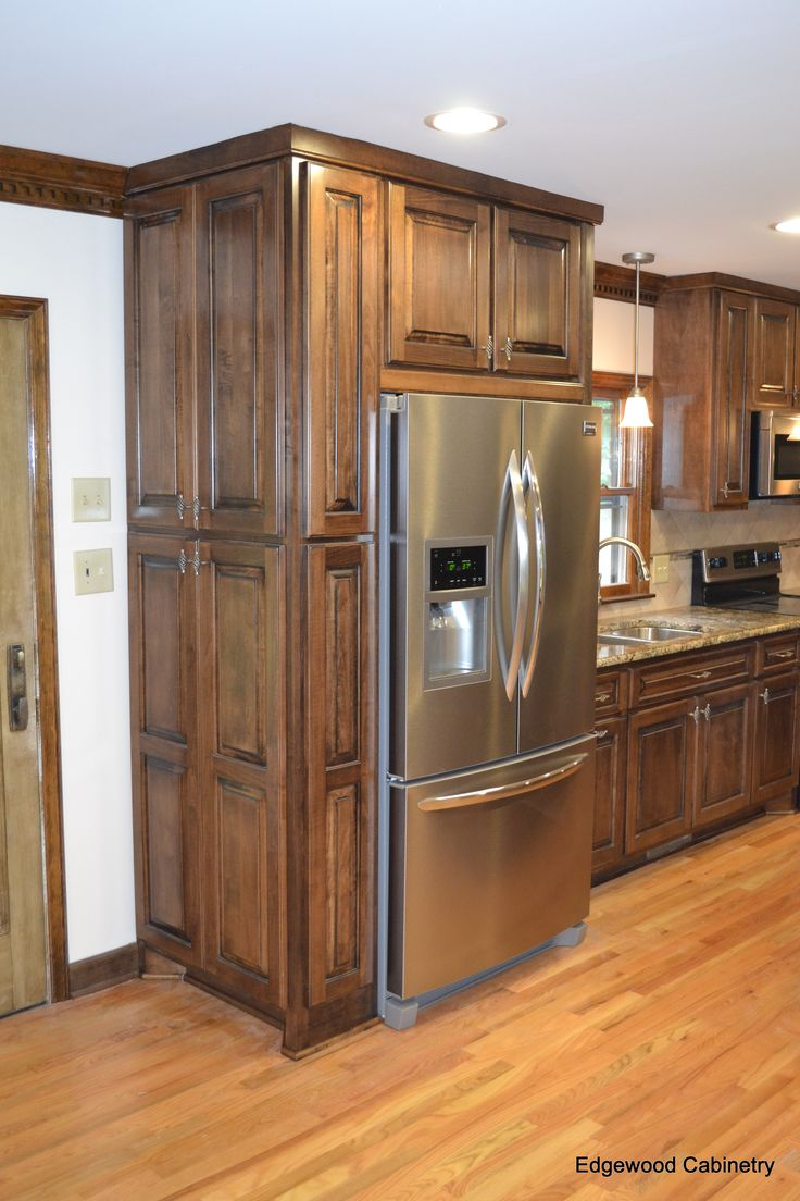 maple cabinets walnut kitchen cabinets Custom maple cabinets finished in a walnut stain and then a black glaze applied